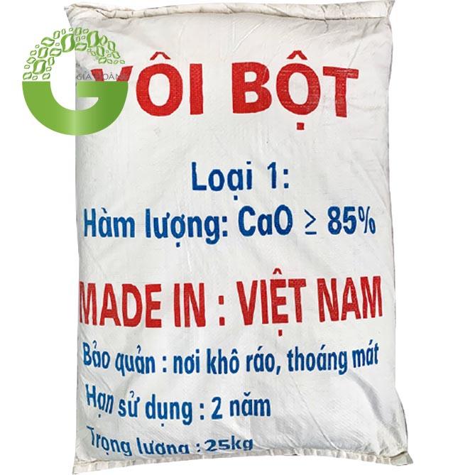 CaO - Vôi Bột, Việt Nam, 25kg/bao