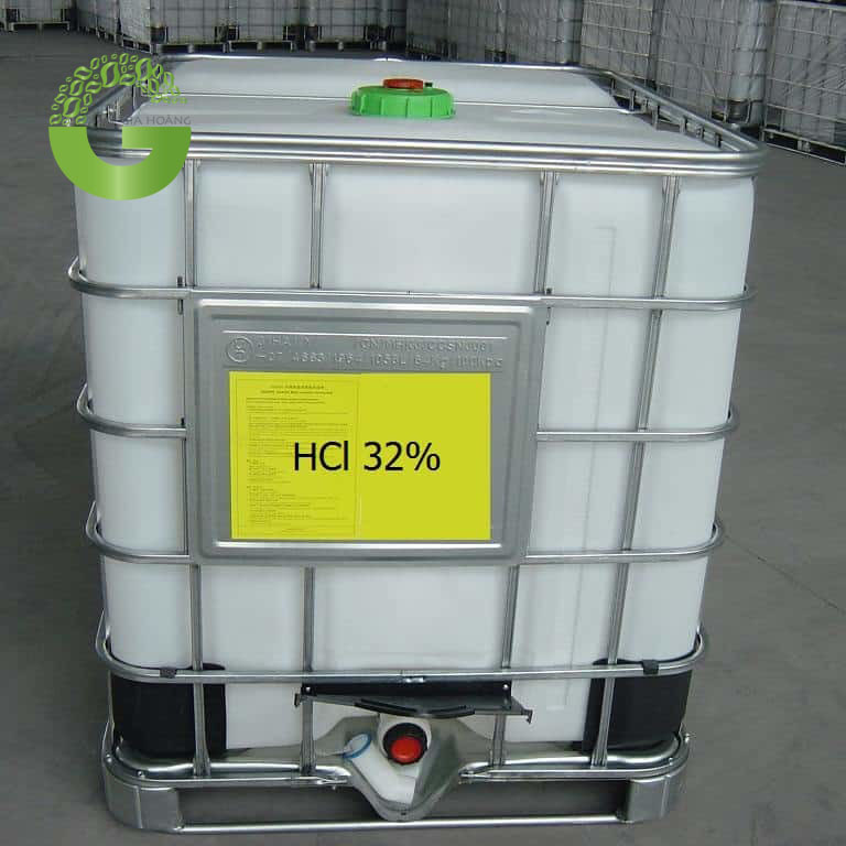 HCl - Axit Cloric 32%, Việt Nam, 30kg/can - 200kg/phuy