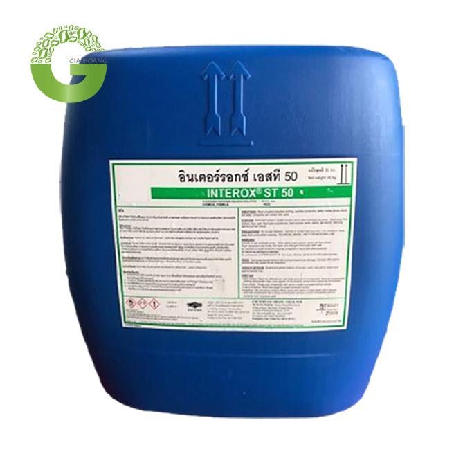 H2O2 - Hydrogen Peroxide 50%, Thái Lan, 25kg/bao