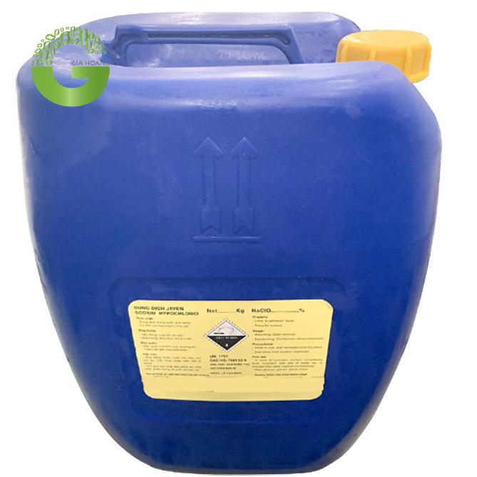 Hóa chất tẩy rửa Javen công nghiệp NaClO, Việt Nam, 30kg/can