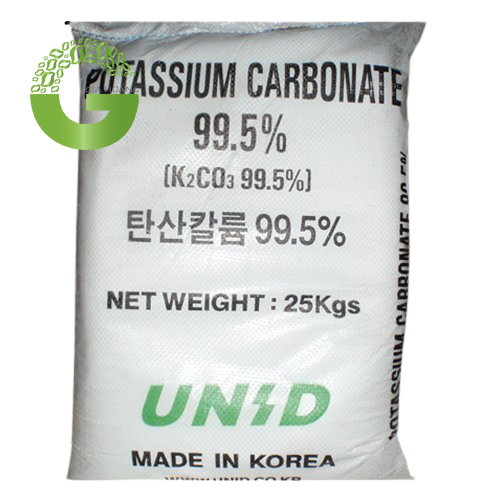 K2CO3 - Potassium Carbonate, Hàn Quốc, 25kg/bao.