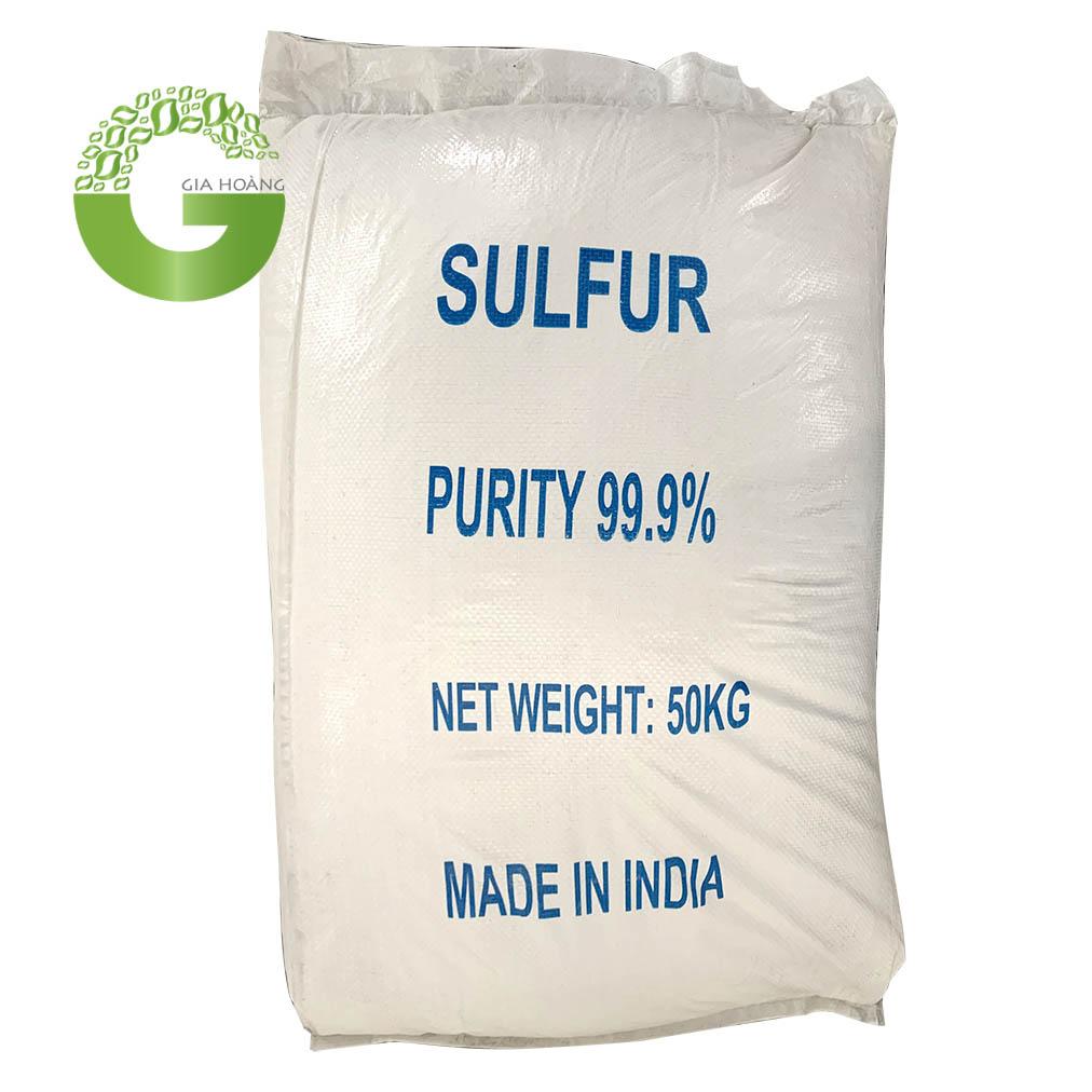 S - Lưu Huỳnh - Sulfur, Ấn Độ, 50kg/bao.
