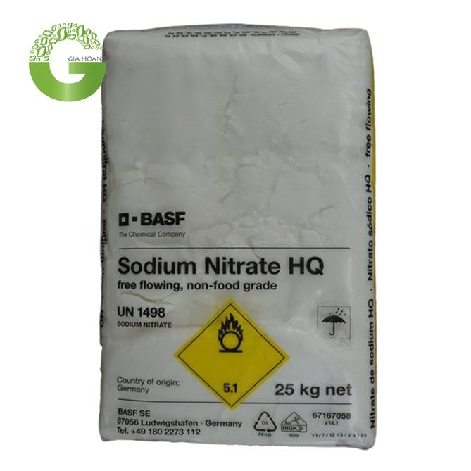 NaNO3 - Sodium nitrate, Đức, 25kg/bao.