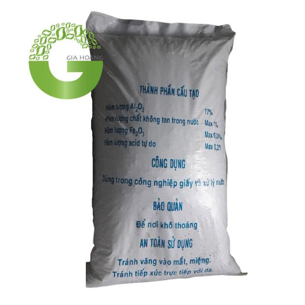Hóa chất Al2(SO4)3.17H2O - Phèn nhôm Sunfat, Việt Nam, 50kg/bao