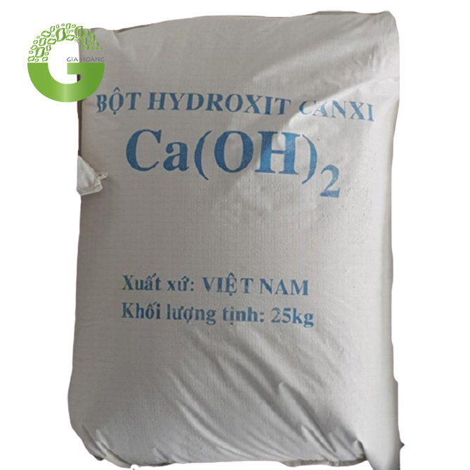 Ca(OH)2 - Calcium hydroxide (Vôi tôi), Việt Nam, 25kg/bao.