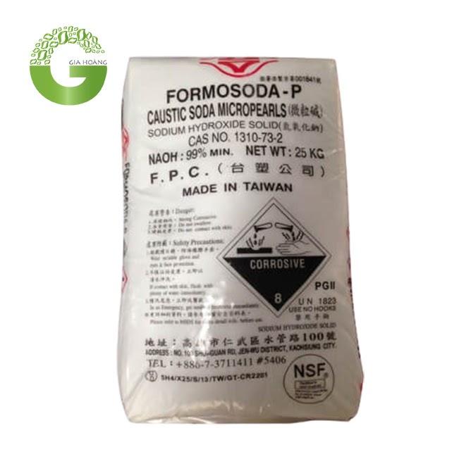 NaOH 99% - Xút Hạt Đài Loan 99%, 25kg/bao