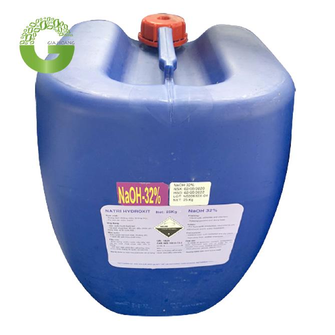 NaOH 32% - Natri hydroxit 32%, Việt Nam, 25kg/can