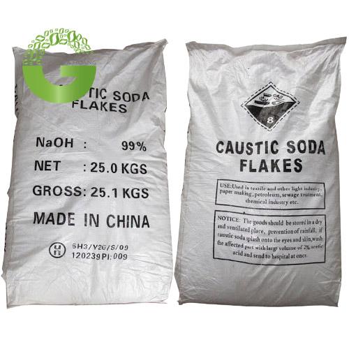 NaOH 99% - Xút Vảy NaOH 99%, Trung Quốc, 25kg/bao